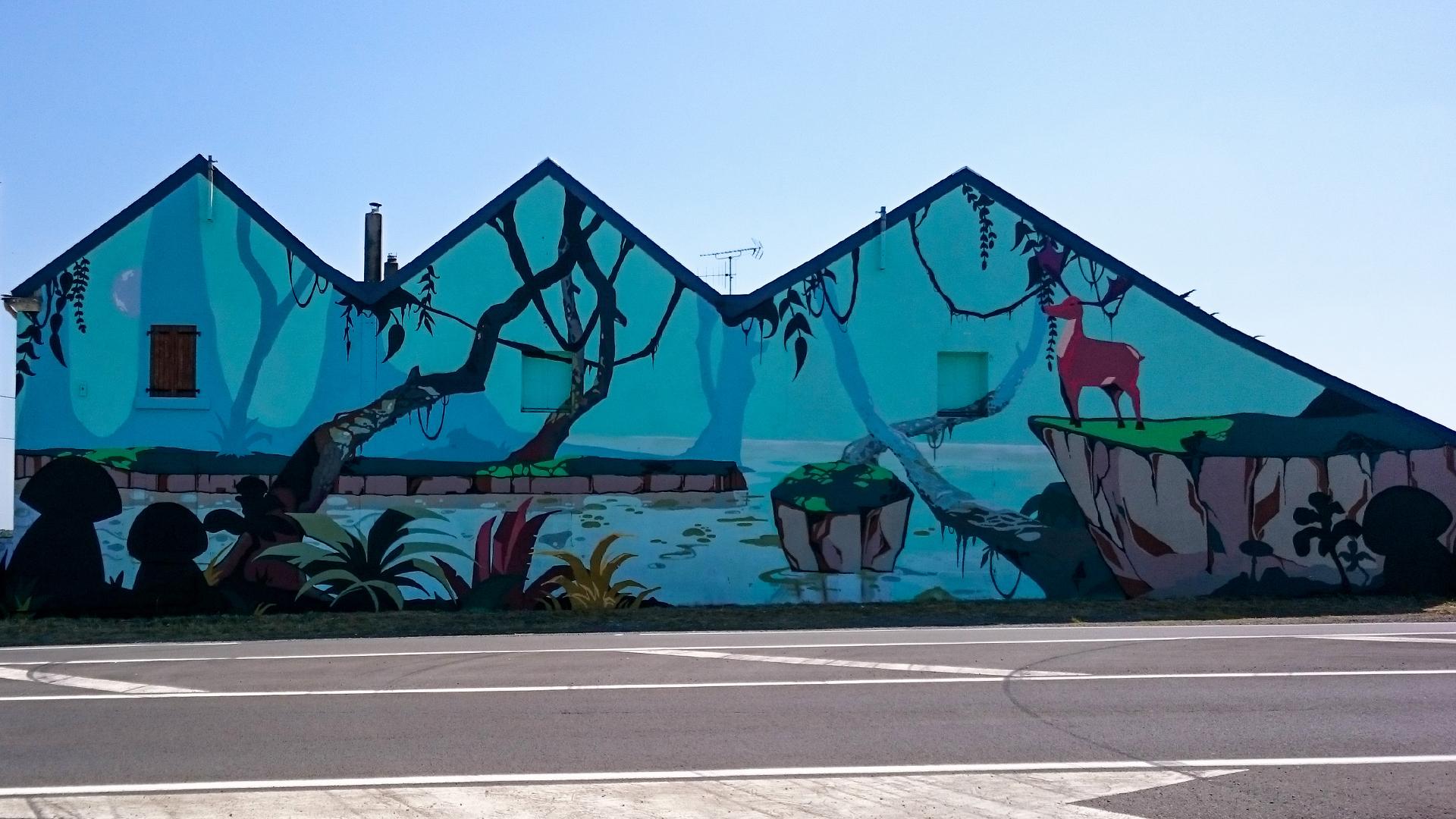 D cors forestier kreadeco d coration int rieure et ext rieure fresques m - Fresque sur mur exterieur ...
