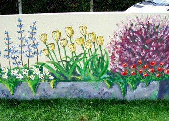 décoration graffiti fleurs