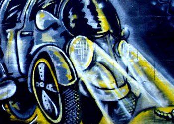 décoration graffiti voiture