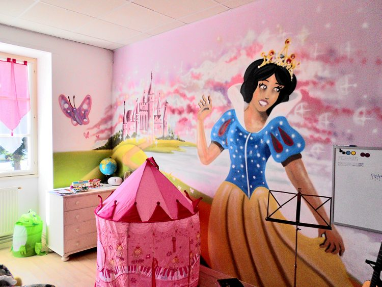decoration graffiti chambre de princesse