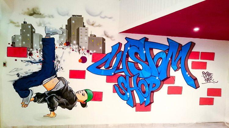 décoration fresque street art magasin hiphop