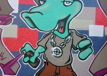 décoration graffiti b-boy
