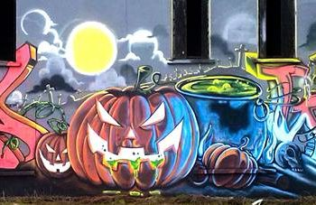 décoration graffiti fresque géante