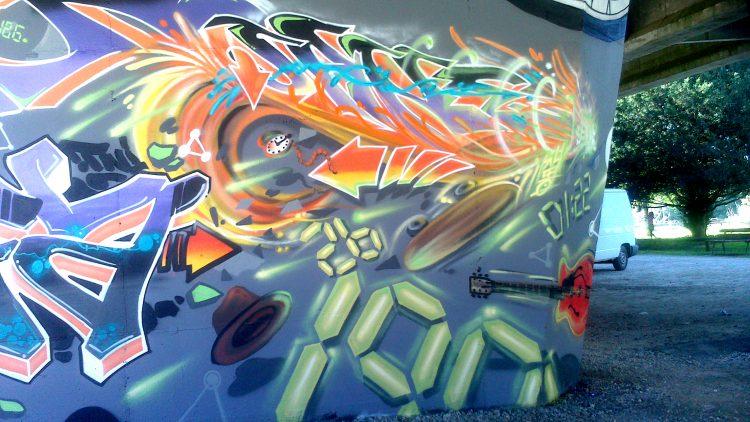 décoration graffiti retour vers le futur festival