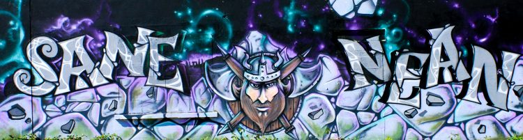 décoration graffiti viking