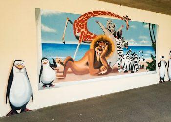 graffiti école dessin animé