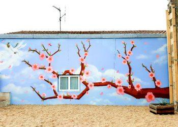 graffiti cerisier japonais