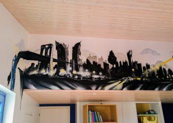 décoration graffiti salle de jeux