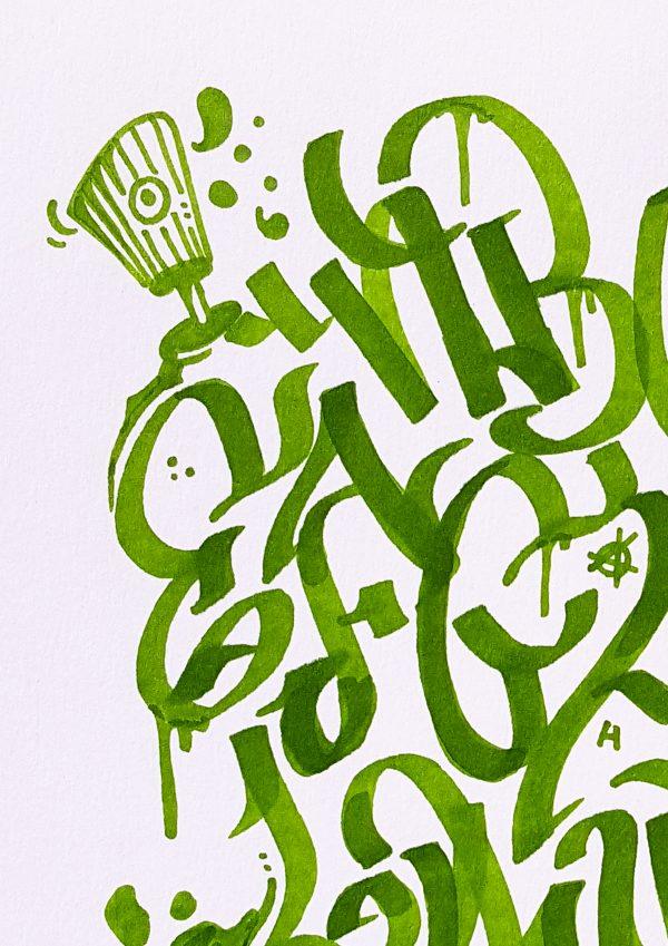 abécédaire graffiti décoration intérieure