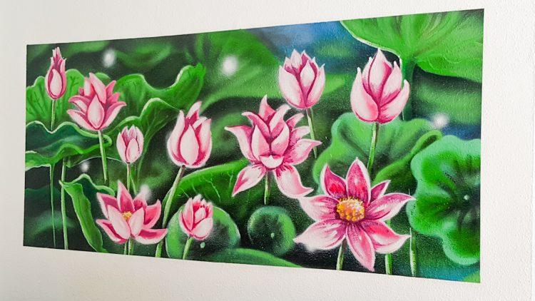 décoration intérieure graffiti lotus