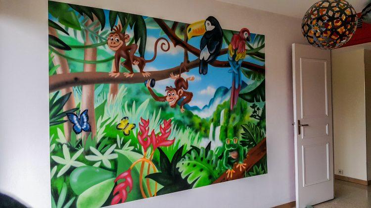 décoration salle de jeu graffiti